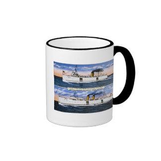 Michigan State Auto Ferries Ringer Mug