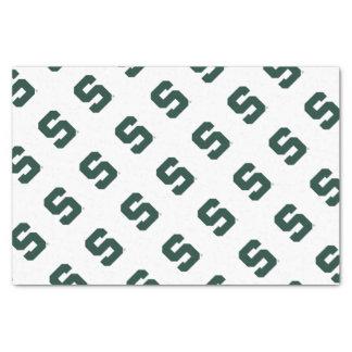 "Michigan State Block S 10"" X 15"" Tissue Paper"