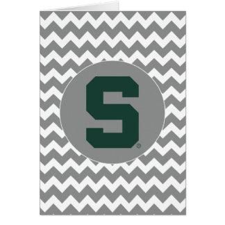 Michigan State Block S Card