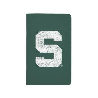 Michigan State Block S Distressed Journal