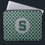 "Michigan State Block S Laptop Sleeve<br><div class=""desc"">Check out these new Michigan State University designs! Show off your MSU Spartan pride with these new Michigan State products. These make perfect gifts for the Spartan student, alumni, family, friend or fan in your life. All of these Zazzle products are customizable with your name, class year, or club. Go...</div>"
