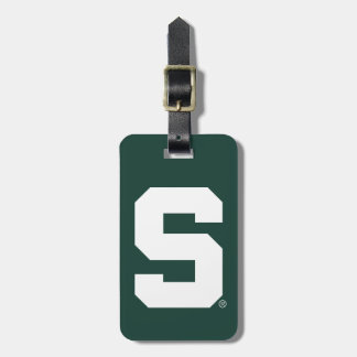 Michigan State Block S Luggage Tag