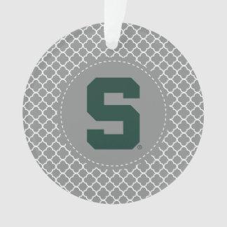 Michigan State Block S Ornament
