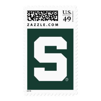 Michigan State Block S Postage