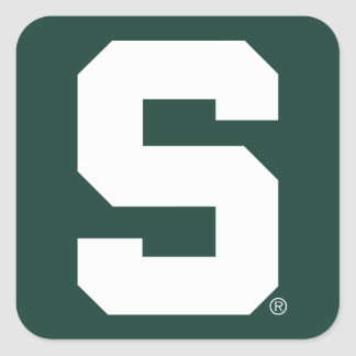 Michigan State Block S Square Sticker