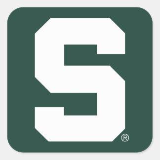 Michigan State Block S Square Sticker