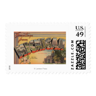 Michigan (State Capital/Flower) Postage