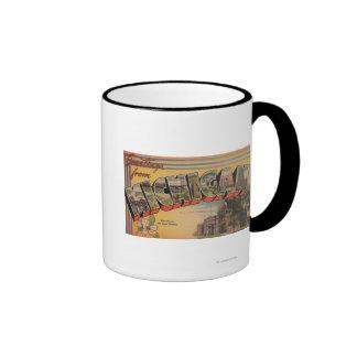 Michigan (State Capital/Flower) Ringer Mug