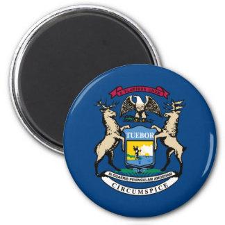 Michigan State Flag 2 Inch Round Magnet