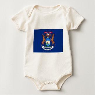 Michigan State Flag Baby Bodysuit