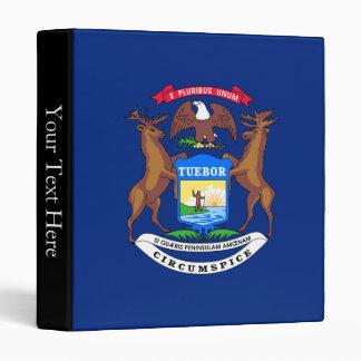 Michigan State Flag 3 Ring Binder