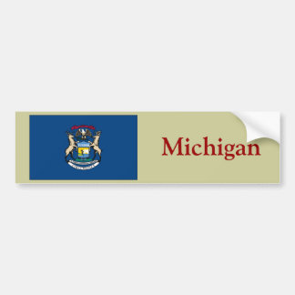 Michigan State Flag Bumper Sticker