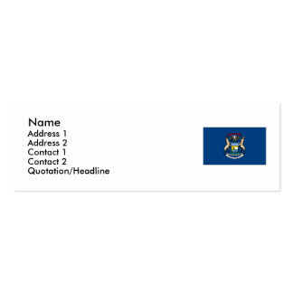 Michigan State Flag Double-Sided Mini Business Cards (Pack Of 20)