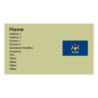 Michigan State Flag Business Card
