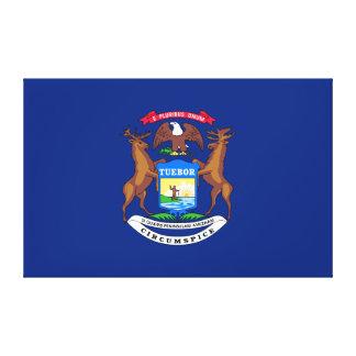 Michigan State Flag Canvas Print