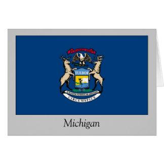Michigan State Flag Card
