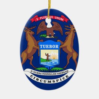 Michigan State Flag Ceramic Ornament