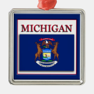 Michigan State Flag Ornaments & Keepsake Ornaments   Zazzle