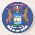 Michigan State Flag Coaster