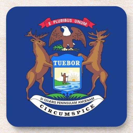 Michigan State Flag Coasters