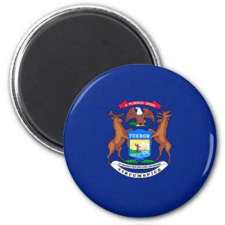 Michigan State Flag Design 2 Inch Round Magnet