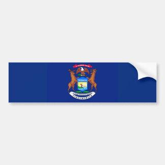 Michigan State Flag Design Car Bumper Sticker