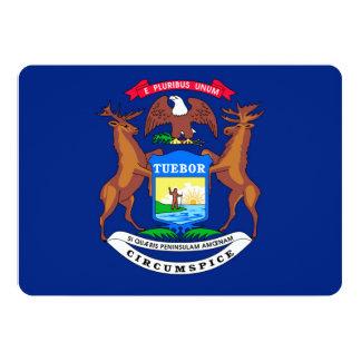 Michigan State Flag Design Card