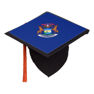 Michigan State Flag Design Graduation Cap Topper