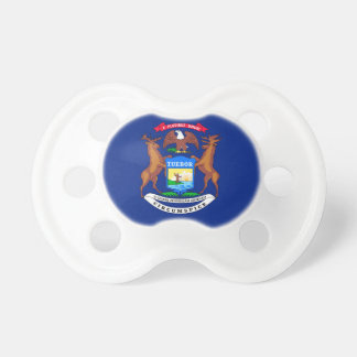 Michigan State Flag Design Pacifier