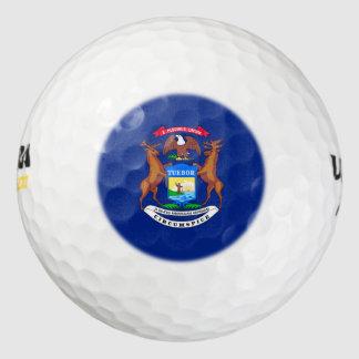 Michigan State Flag Design Pack Of Golf Balls