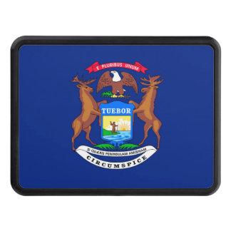 Michigan State Flag Design Trailer Hitch Cover