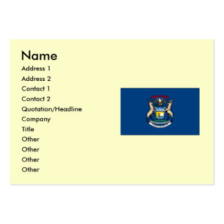 Michigan State Flag Large Business Card