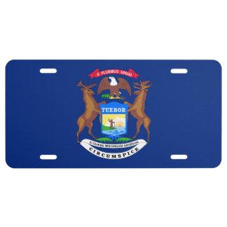 Michigan State Flag License Plate
