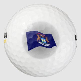 Michigan State Flag logo Pack Of Golf Balls