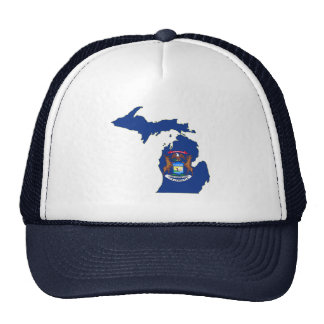 Michigan State Flag Map Trucker Hat