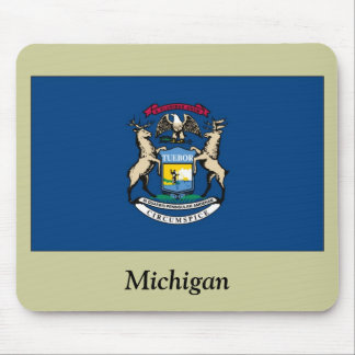 Michigan State Flag Mouse Pad