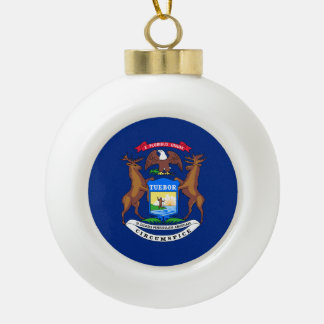 Michigan State Flag Ornaments