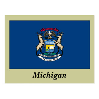 Michigan State Flag Post Cards