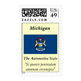 Michigan State Flag Stamps