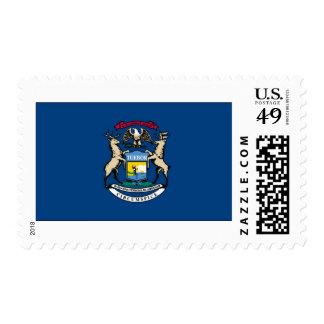 Michigan State Flag Postage Stamp