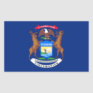 Michigan State Flag Rectangular Sticker