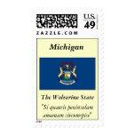 Michigan State Flag Stamp