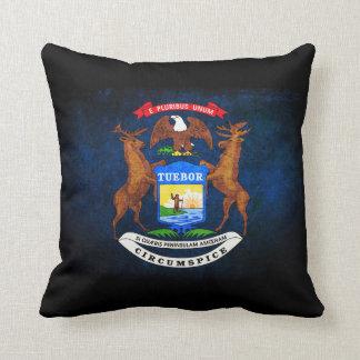 Michigan state flag throw pillow