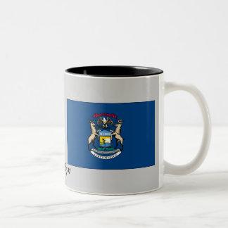 Michigan State Flag Two-Tone Coffee Mug