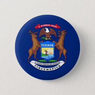 Michigan state flag usa united america symbol pinback button
