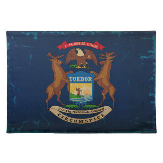 Michigan State Flag VINTAGE.png Place Mats