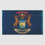 Michigan State Flag VINTAGE.png Rectangle Stickers