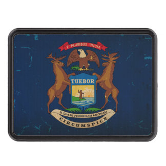 Michigan State Flag VINTAGE.png Trailer Hitch Cover