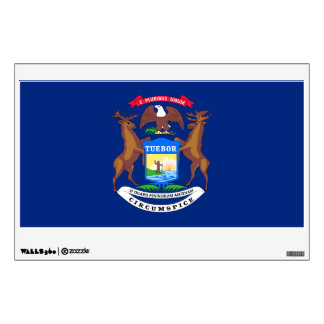 Michigan State Flag Wall Decal