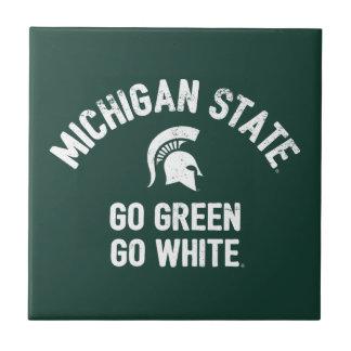 Michigan State | Go Green Go White Ceramic Tile